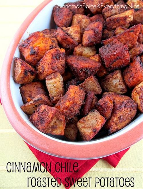 Cinnamon Chile Roasted Sweet Potatoes. Love that flavor combo. Theres ...