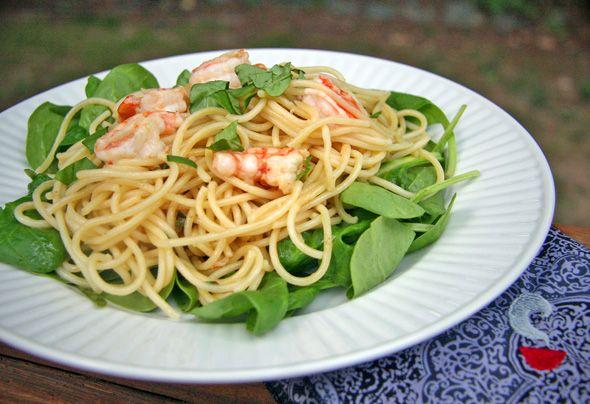 Lemon Basil Shrimp with Pasta | Seafood Dishes | Pinterest