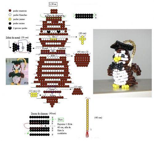 Схемы объёмных поделок из бисера