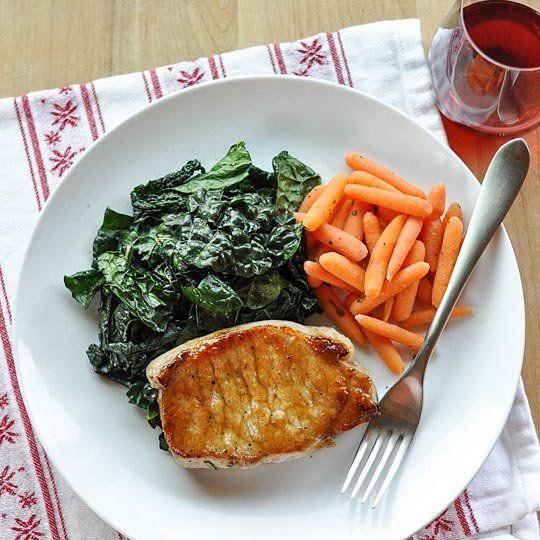 Sage-Brined Pork Chops with Brown Sugar Glaze | Recipe