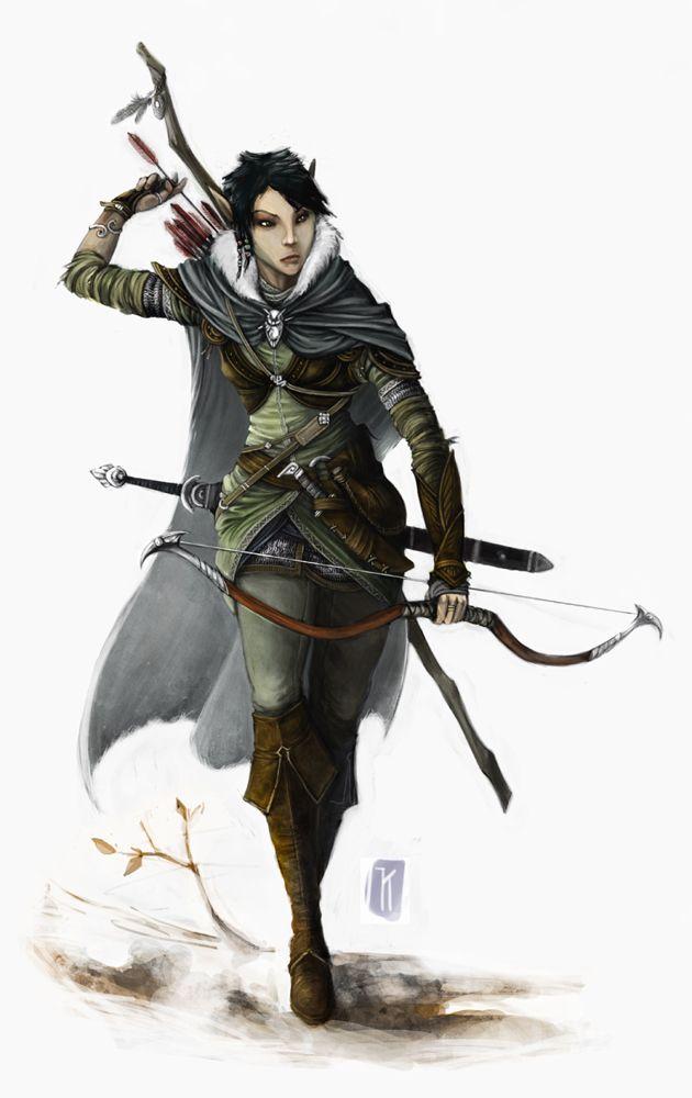 Female Elven RangerElven Ranger Portrait