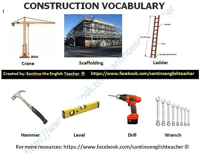 construction work construction work vocabulary