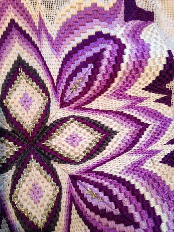 Милые сердцу штучки вышивка барджелло 3