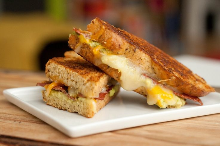 bacon avocado grilled cheese on sun-dried tomato basil bread | Grilled ...