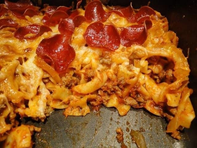 Pepperoni Pizza Baked Casserole.