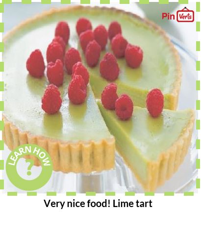 Very nice food! Lime tart.love this! First time i made it thought it ...