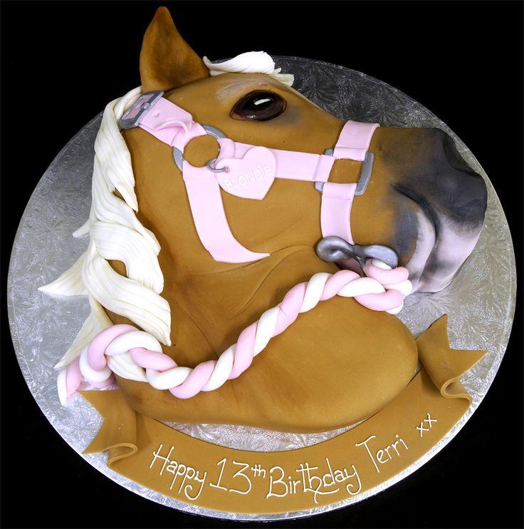 Horse Head Cake Design : Horse-Birthday-Cakes-For-Girls-246 Western Pinterest