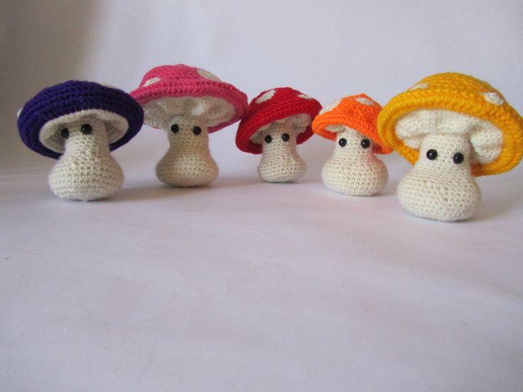 Amigurumi Mushroom Crochet Patterns : Amigurumi Mushrooms Knitting/Crocheting Pinterest