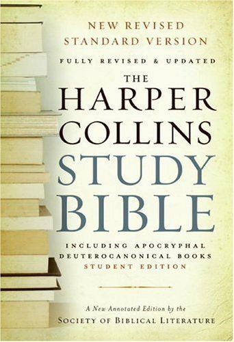 HarperCollins Study Bible - Student Edition: Fully Revised & Updated by Harold W. Attridge et al.. The landmark general reference Bible that offers the full text  as well as in-depth articles, introductions, and comprehensive notes by today's leading biblical scholars for the Society of Biblical Literature. Completely revised and updated, this edition incorporates the latest scholarship and findings as well as incorporating new diagrams, charts, and maps—25% revised or new material.