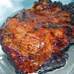 Bourbon Street Rib-Eye Steak Recipe - Sirloin Steak with Garlic Butter ...