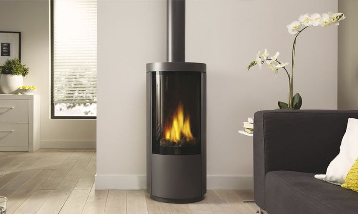 Free Standing Gas Fireplace Small Bungalow Ideas Pinterest