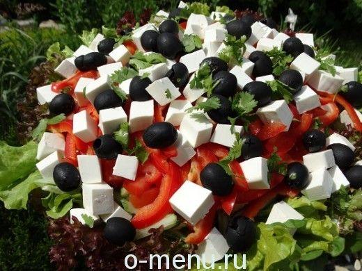 Приготовление греческого салата пошагово