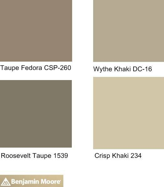 Ben Moore Khaki Color Chart