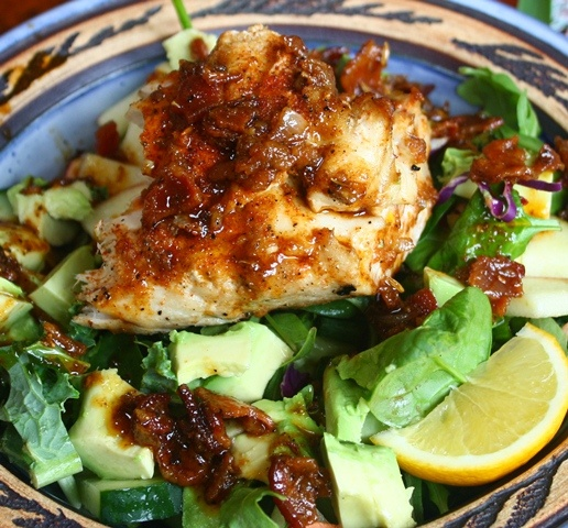 spicy grilled tuna salad with warm bacon dressing will sub out the ...