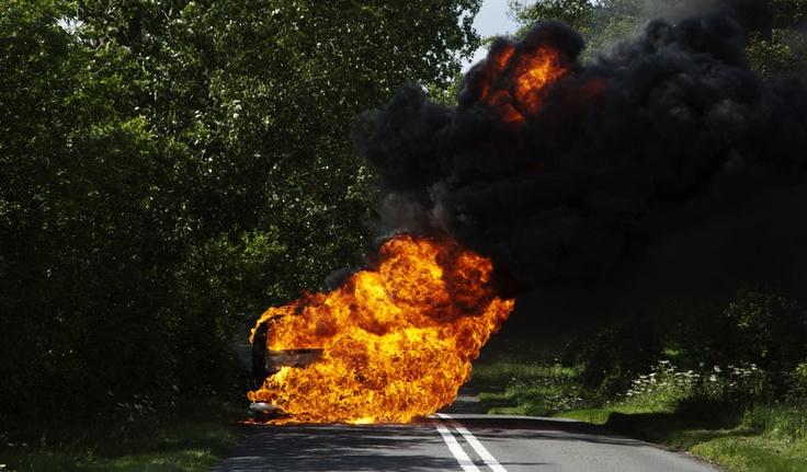 """Saatchi Online Artist: Jon Welsh; Digital, 2011, Photography """"Burning Van"""" #art"""