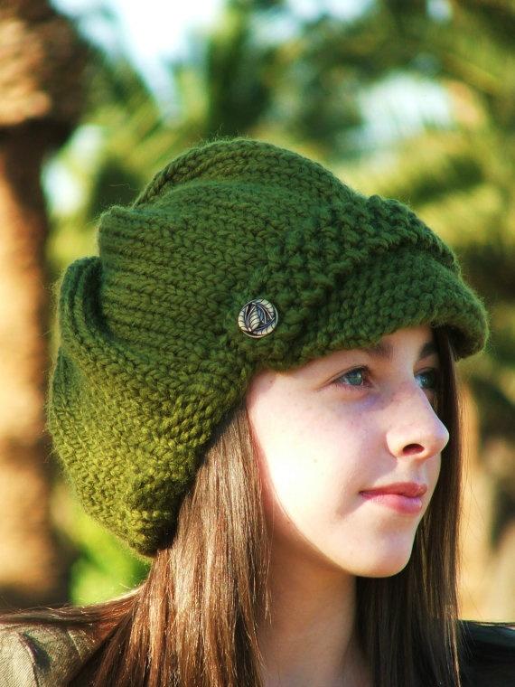 Knitting Pattern - Knit Hat Knitting pattern PDF - Newsboy Hat Patter?