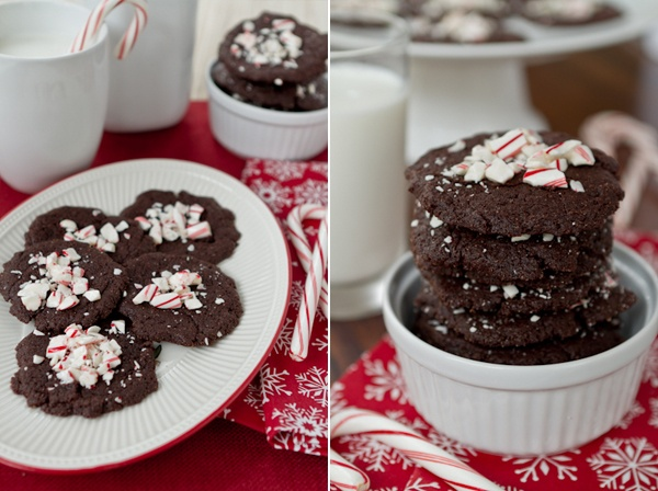 Peppermint Brownie Thins....two of my favorite things