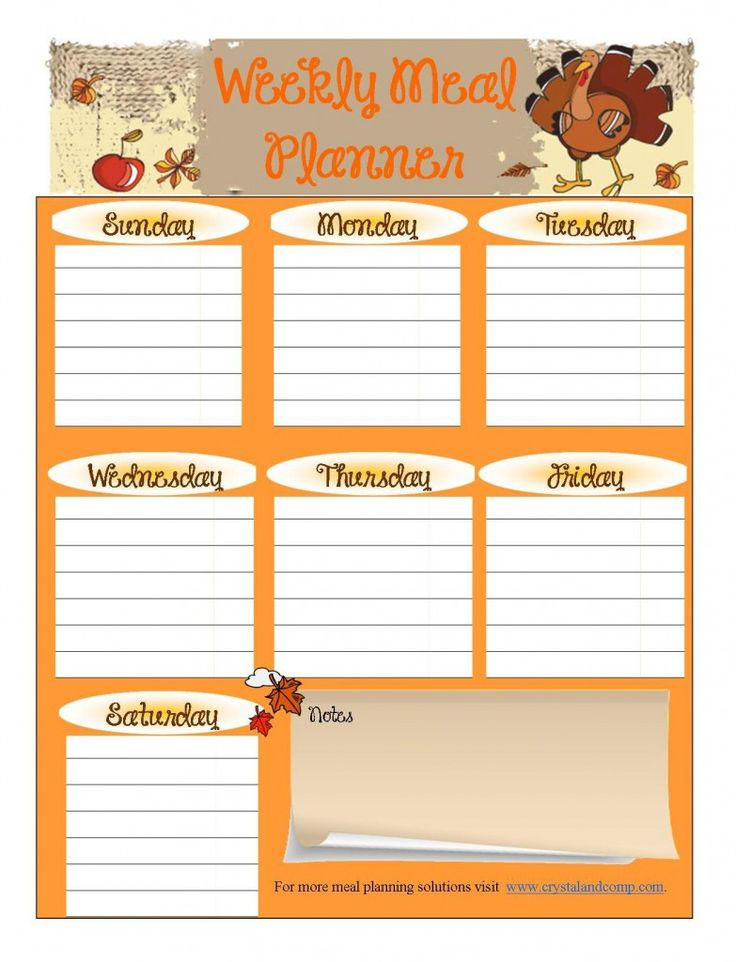 meal planning calendar template printable monthly meal planner