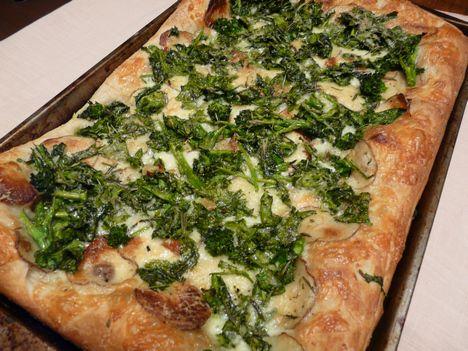 Weekday Vegetarian: Broccoli Rabe, Potato and Rosemary Pizza