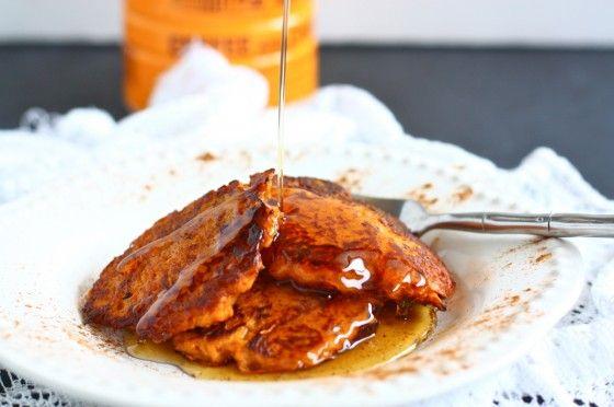 sweet potato latkes (potato pancakes)