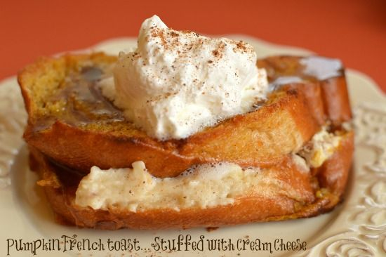 Baked Pumpkin French Toast (Stuffed with Cream Cheese) | Recipe