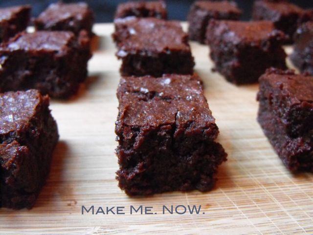 Deep, dark brownies. | I love food. | Pinterest