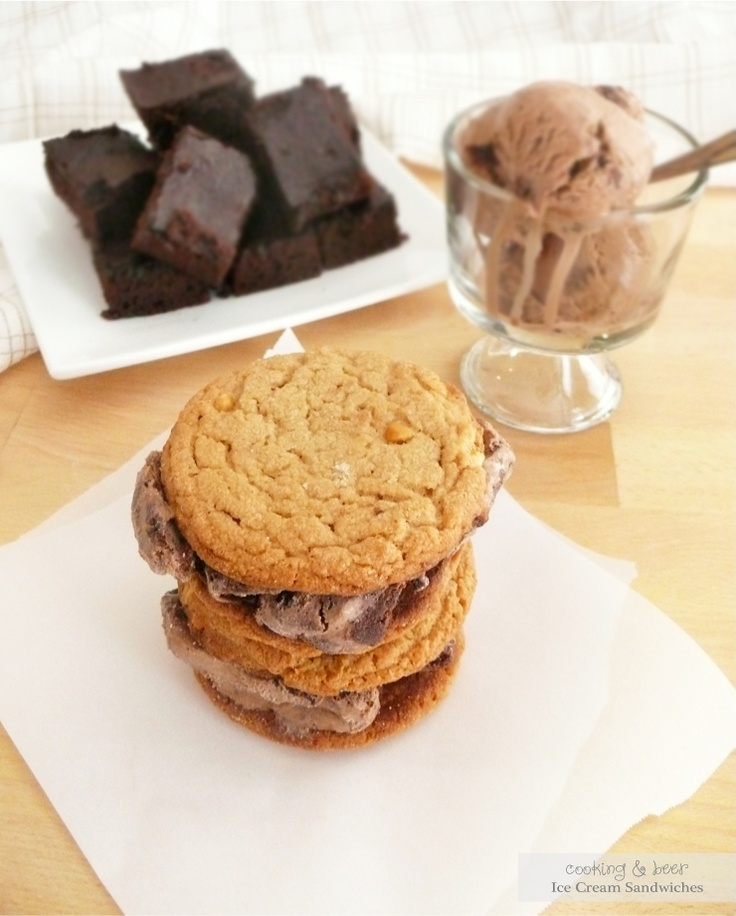 Chocolate and Brownie Ice Cream Sandwiches | Recipe