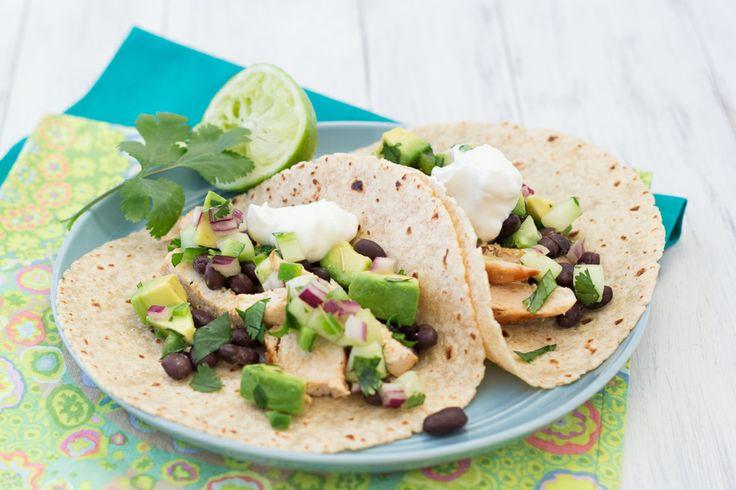 Chicken Tacos with Cucumber-Avocado Salsa | Kristine's Kitchen