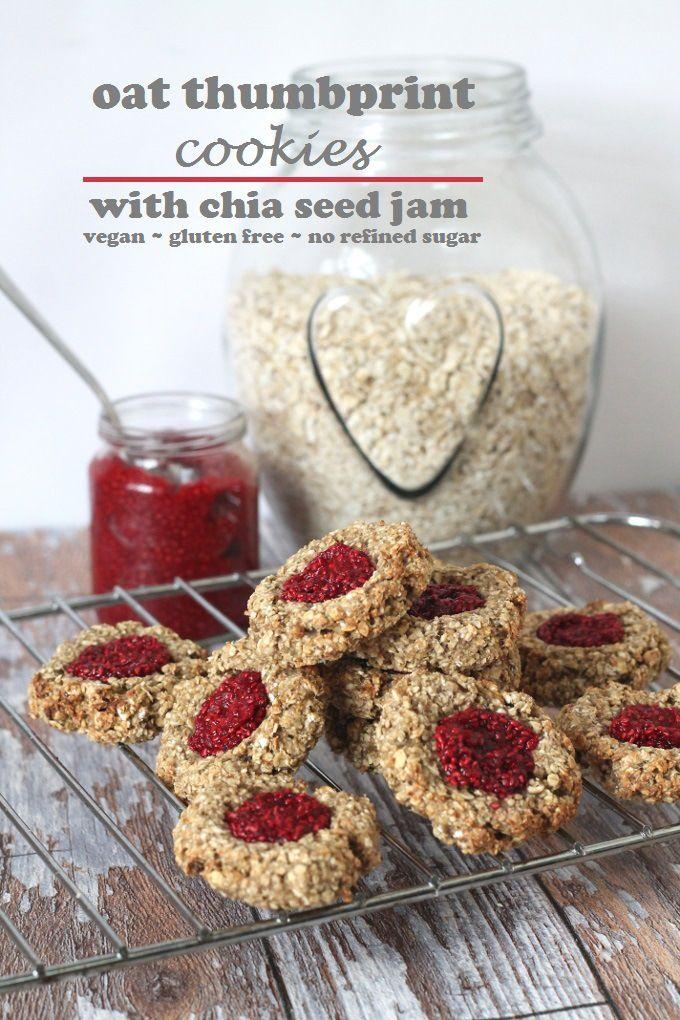 oat thumbprint cookies vegan & gluten free