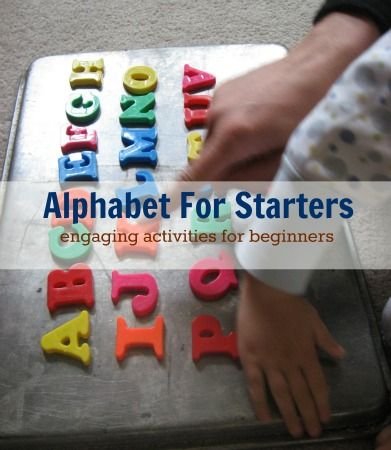 Engaging alphabet activities for introducing and playing with letters.  How did you introduce the alphabet to your kids?