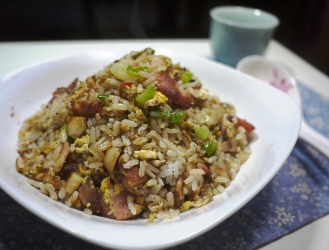 Asian Style Bacon and Egg Fried Rice Recipes » Easy Chinese Recipes