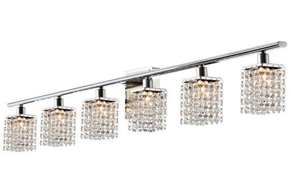 Diy bathroom decorating ideas - Vienna Full Spectrum Sparkle Chrome Crystal Bathroom Light