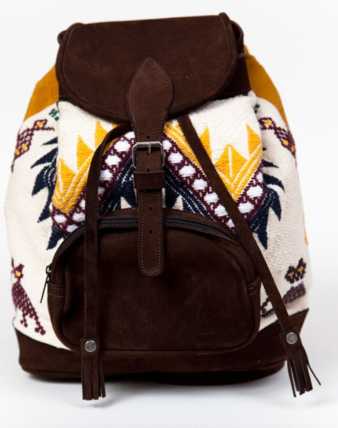 ... this unique mini backpack made from unique Latin American clothing