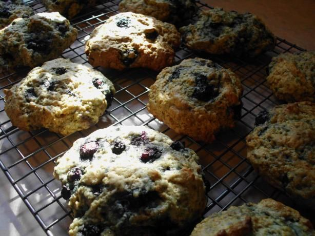 Healthy Blueberry Scones. Low in fat, half whole wheat. 100 percent ...
