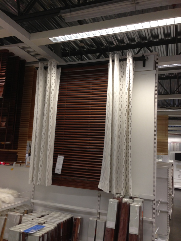 curtains and blinds at ikea : Ikea -wood look blinds and curtains For the  Home
