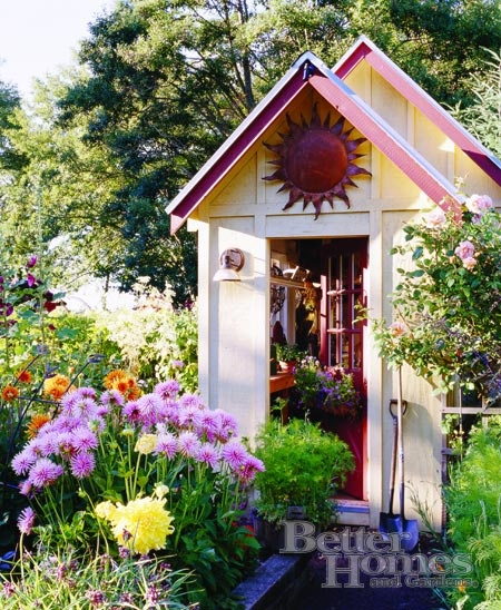 Decorating Inspiration Garden sheds Pinterest