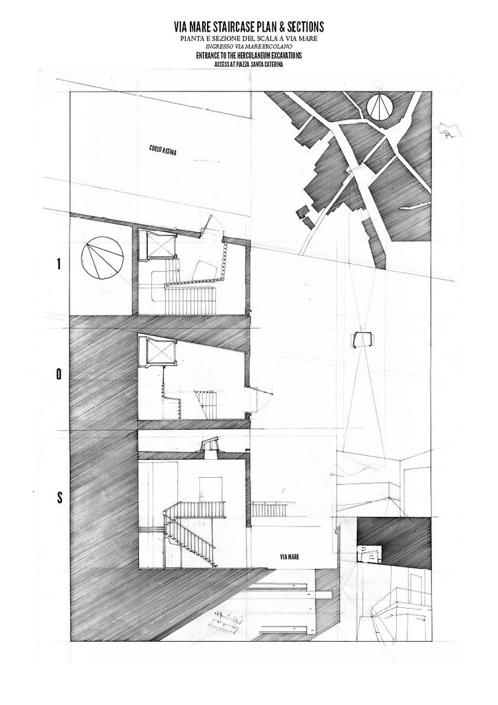 Staircase Plans And Sections