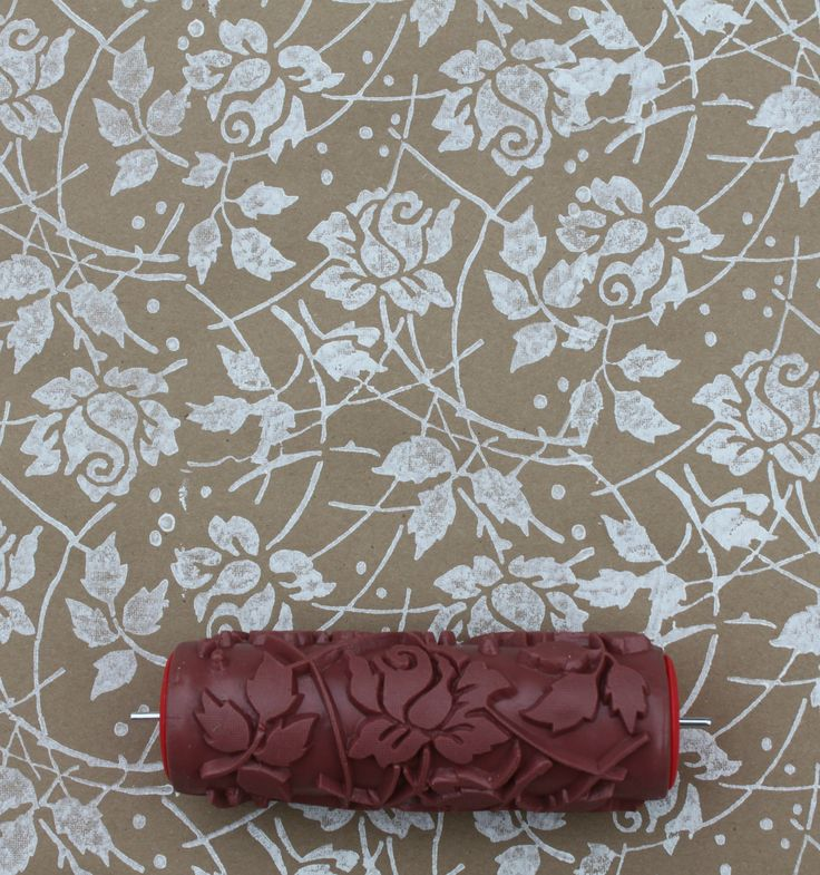 Wall Design Roller : Patterned paint roller in sweet sea roses design wall
