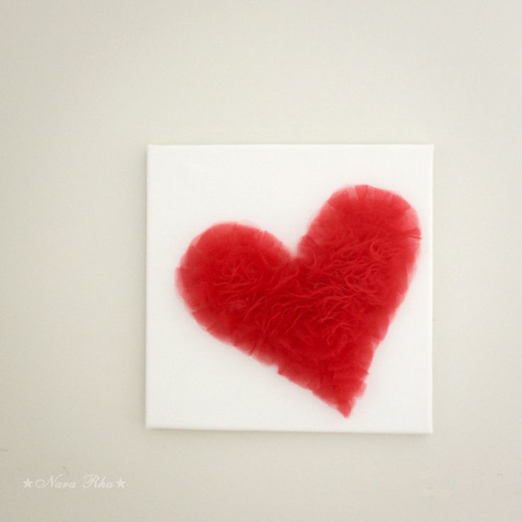 Red Love Wall Decor : Love decoration red heart wall decor canvas by