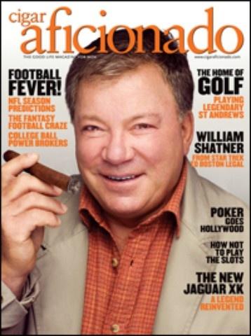 William Shatner cigar