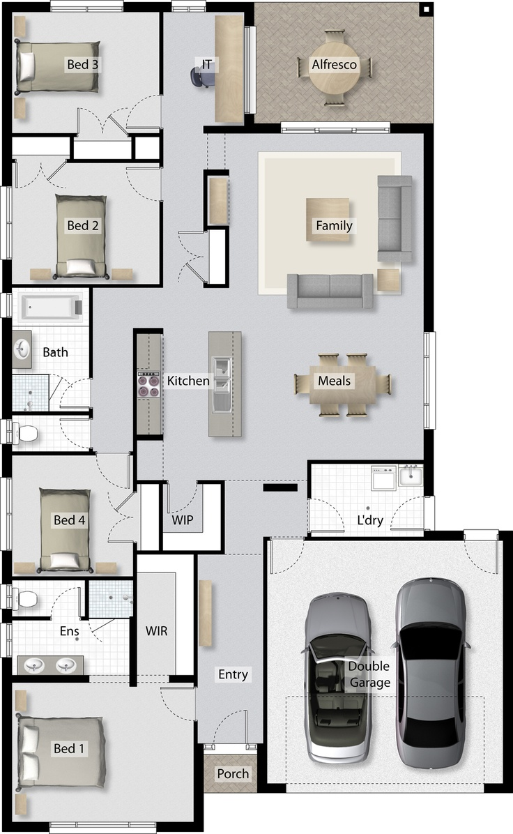 IT Nook Shown On Floor Plan Open Style Home Office Clarendon Homes
