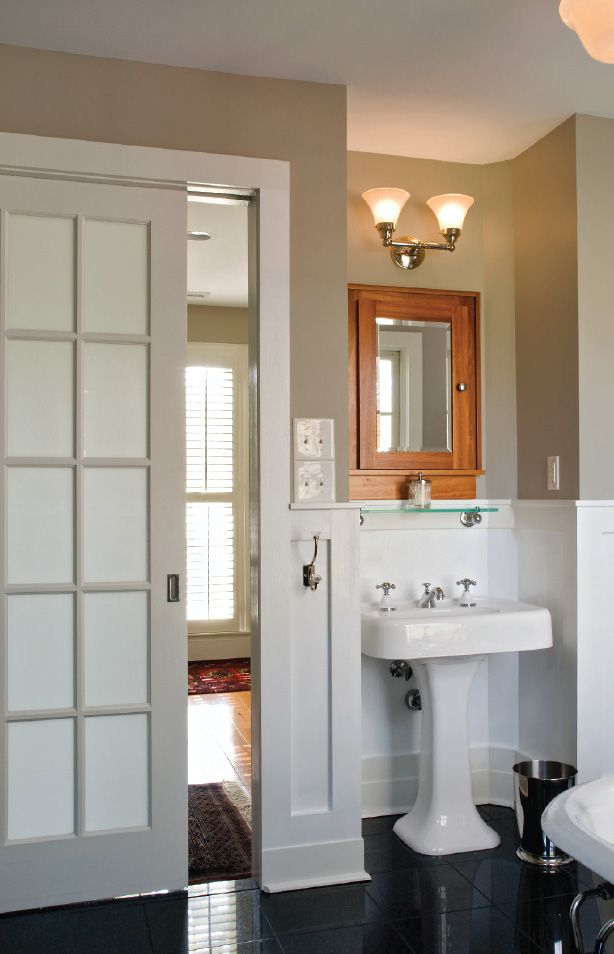 Bathroom sliding doors