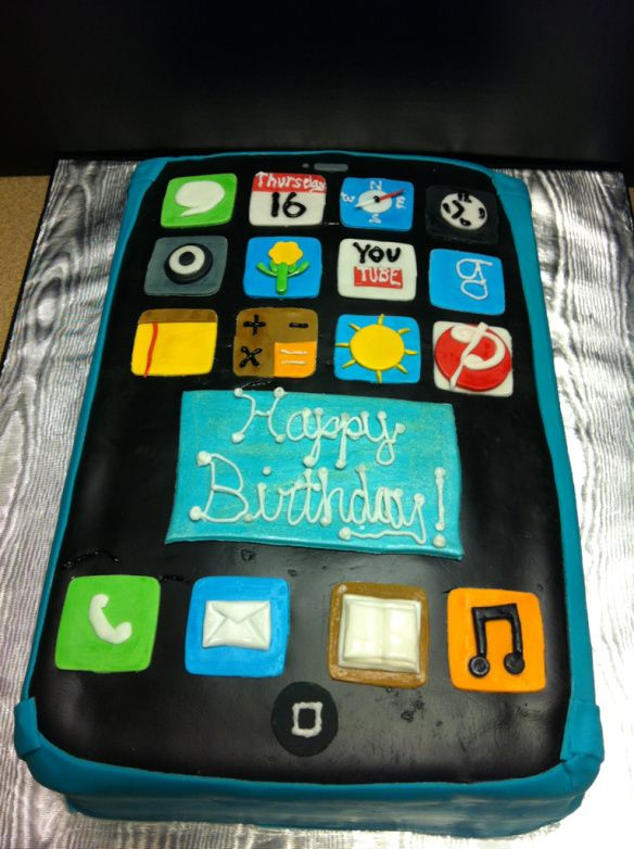 Ascii Art Birthday Cake Iphone : iPhone Birthday Cake! Bake-a-rella Pinterest
