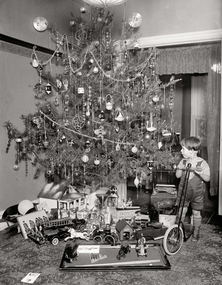 Vintage Christmas Tree Photograph Photo Christmas Trees