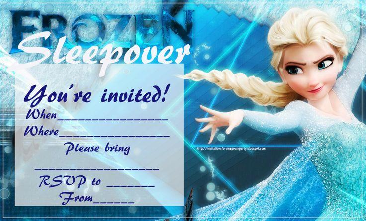 Frozen Sleepover Invitation orderecigsjuiceinfo