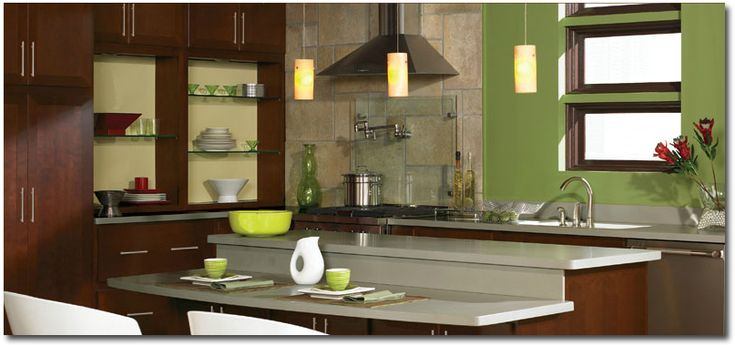 green marble floor  what color paint?  Green Kitchen Paint Colors