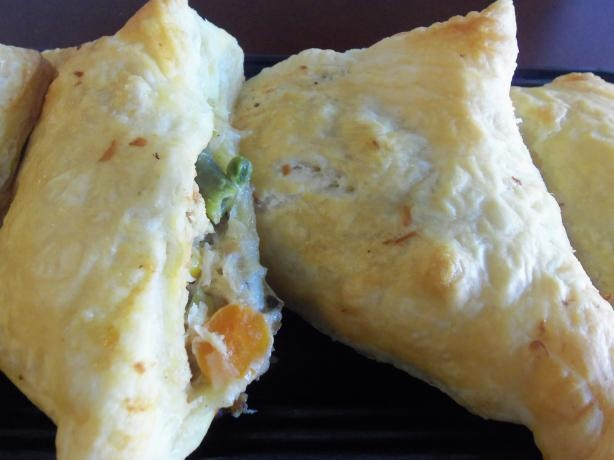 Chicken Pot Pie Turnovers-Yum! from Food.com: Using leftover chicken ...