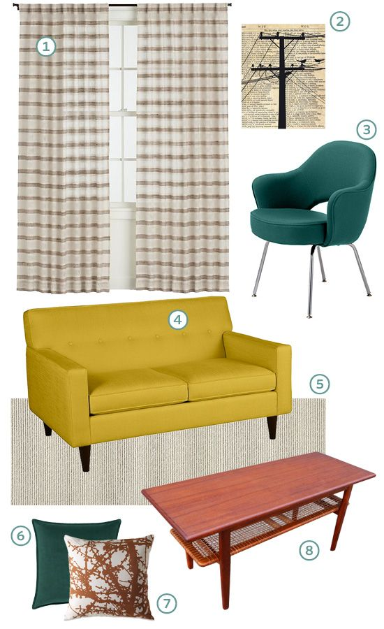 Get the look retro modern living room bhg style spotters