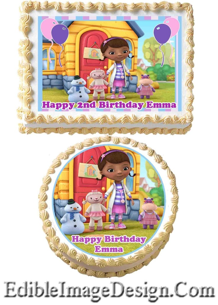 DOC MCSTUFFINS Edible Birthday Cake Image Decoration Cupcake Topper Favor | eBay