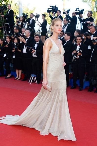 Erin Heatherton in nude Roberto Cavalli with Chopard jewellery in Cannes 2013